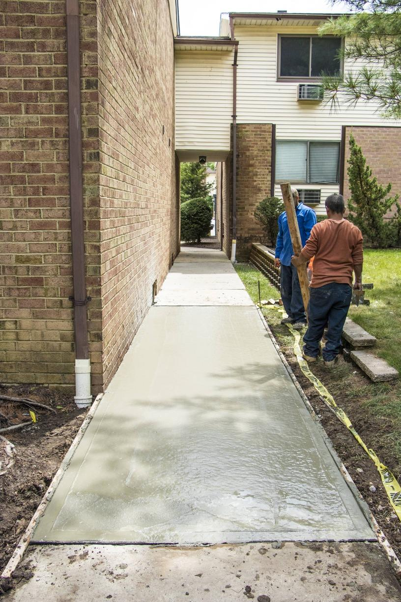 Delivering Concrete in Monroe, NJ to Replace a Walkway. - After Photo