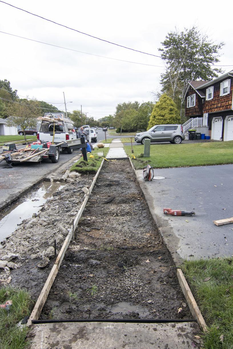 Concrete Replacement in Monroe Township, NJ - Before Photo