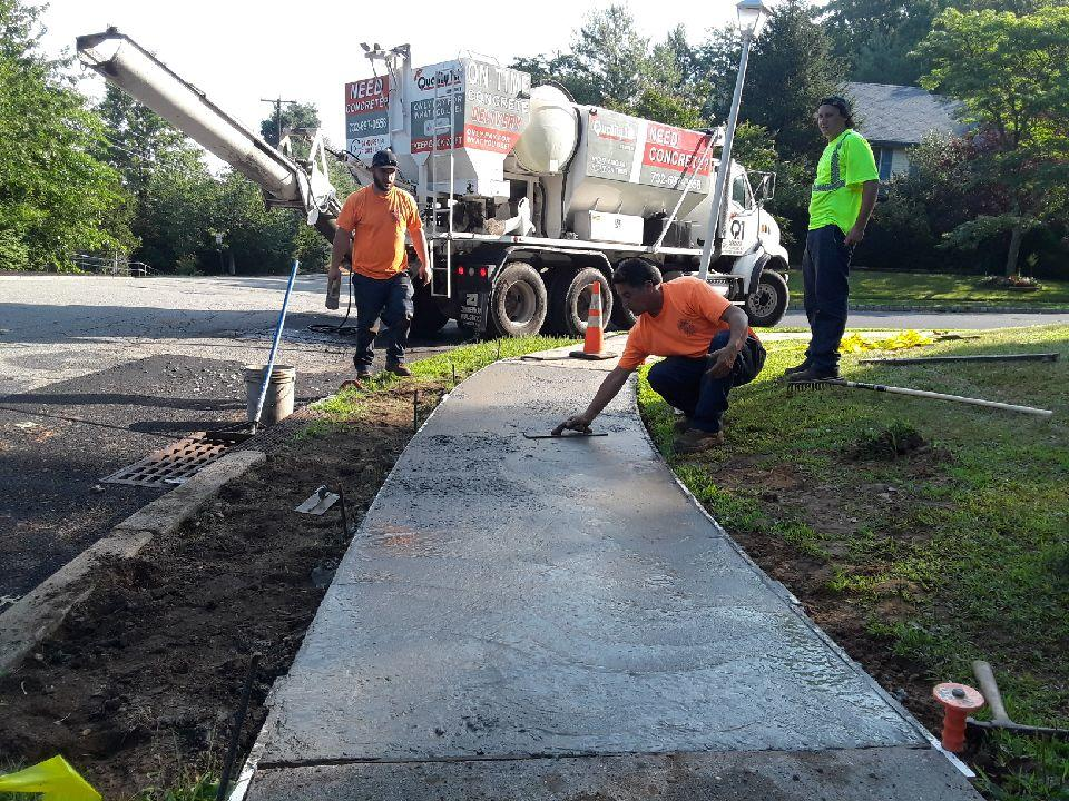Quality 1st Concrete Pours Concrete Sidewalk in Aberdeen, NJ - After Photo