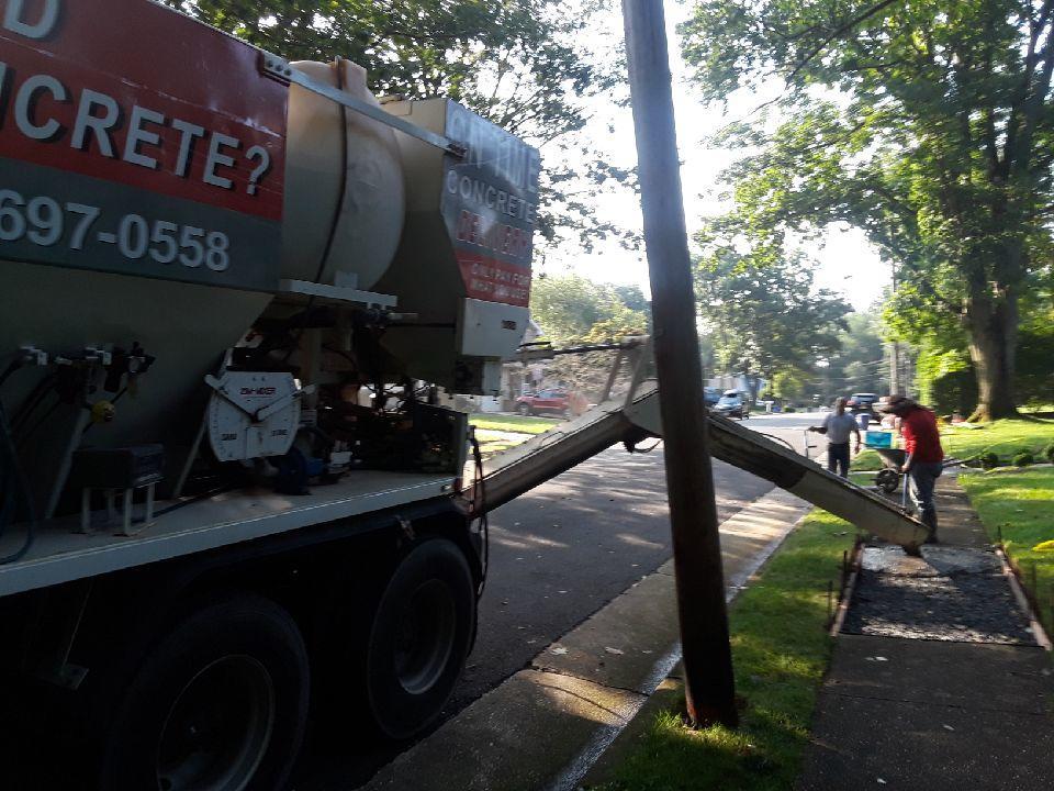 Freehold, NJ Concrete Pour - After Photo