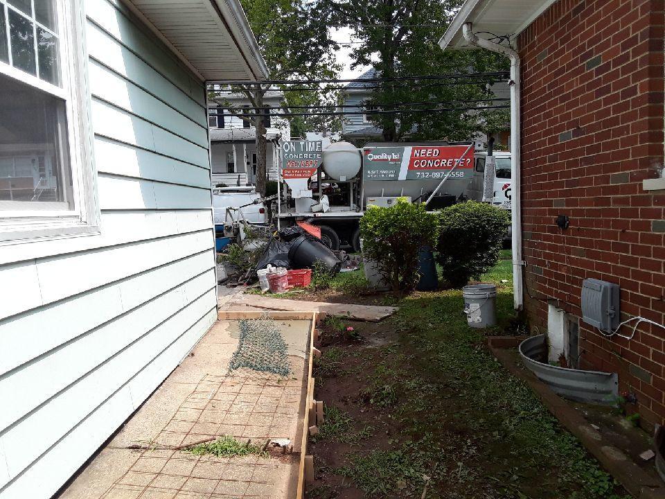 Freehold, NJ Concrete Pour - Before Photo