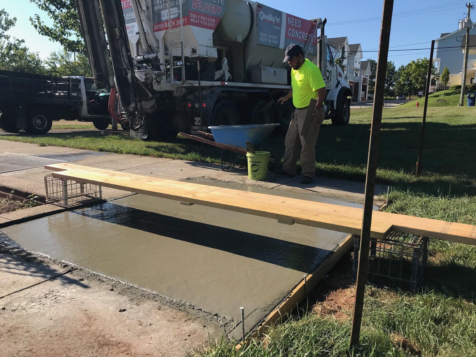 Concrete Pour In Perth Amboy, NJ - After Photo