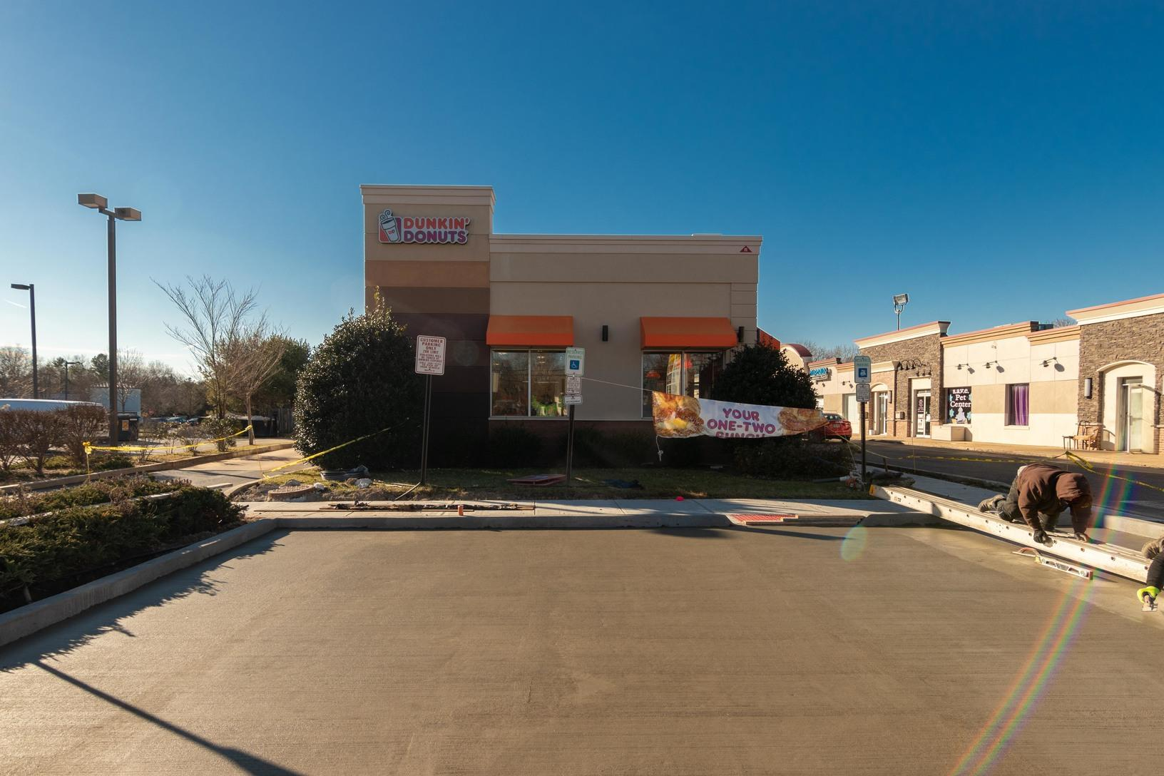 Quality 1st Concrete Delivers Concrete to Dunkin Donuts In Brick, NJ - After Photo