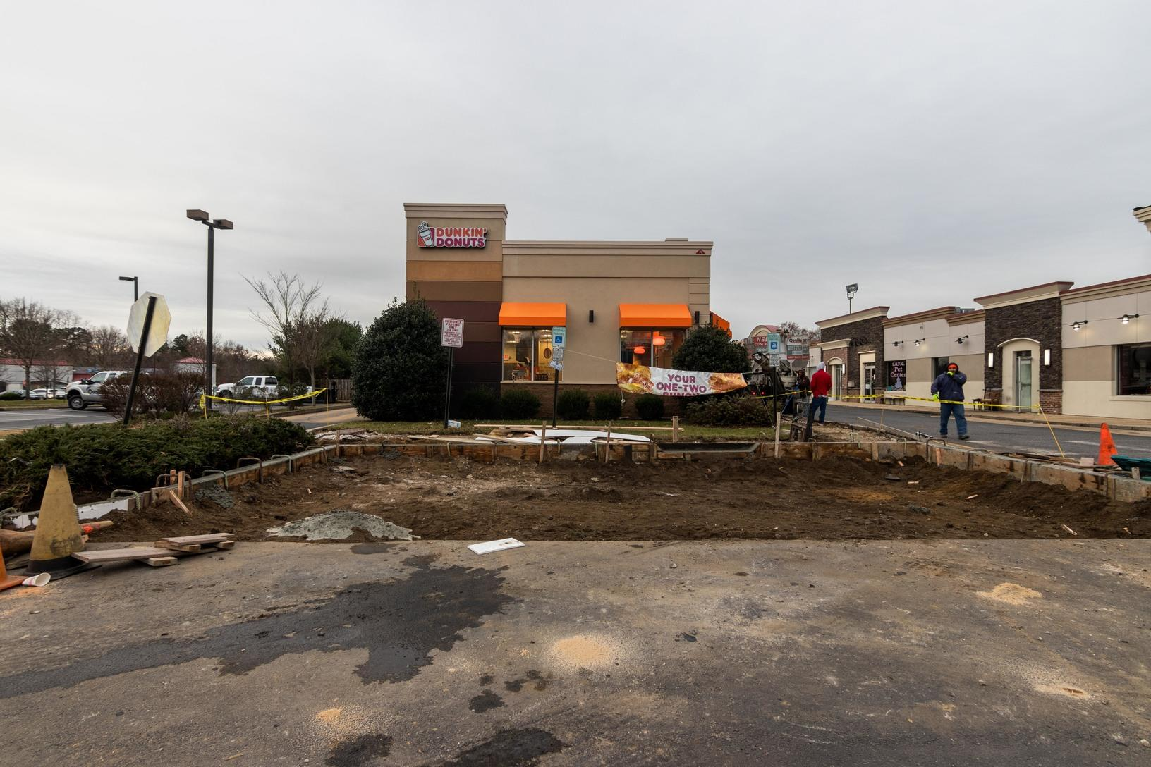 Quality 1st Concrete Delivers Concrete to Dunkin Donuts In Brick, NJ - Before Photo