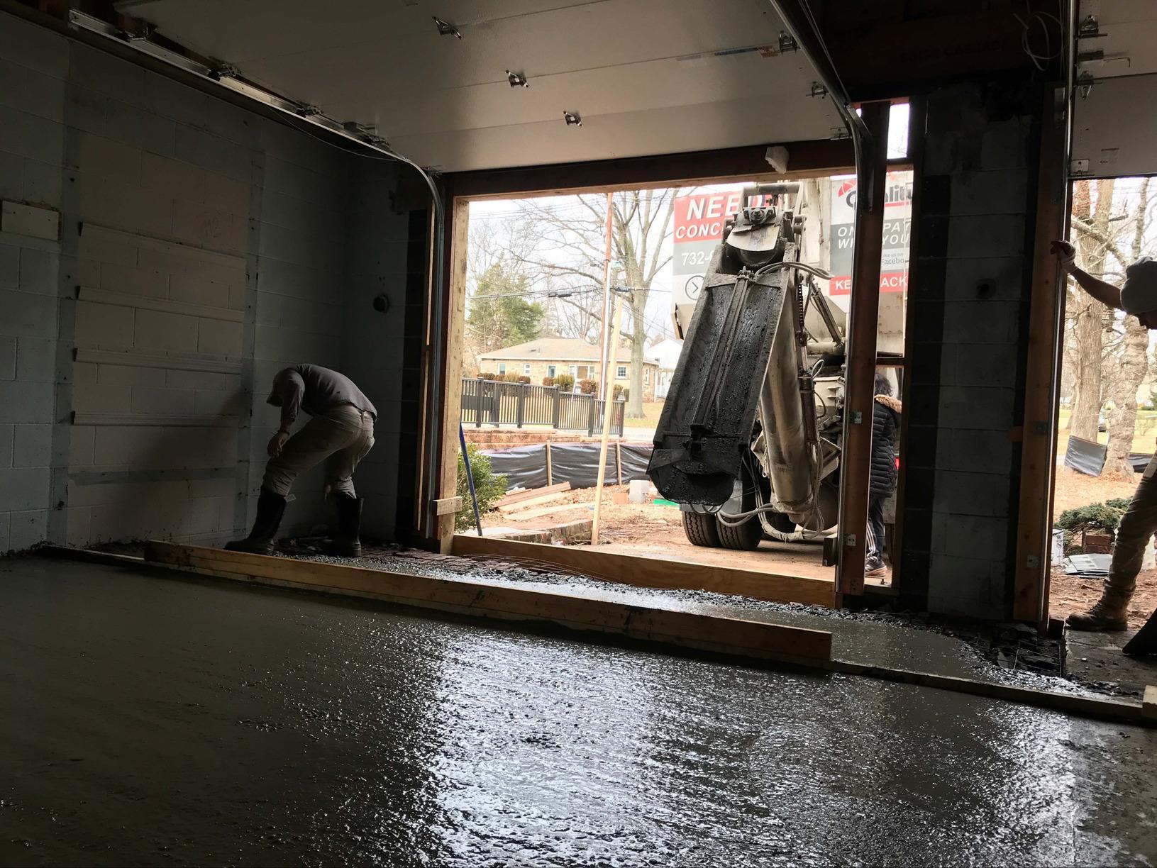 Garage Concrete Pour in Edison NJ - After Photo