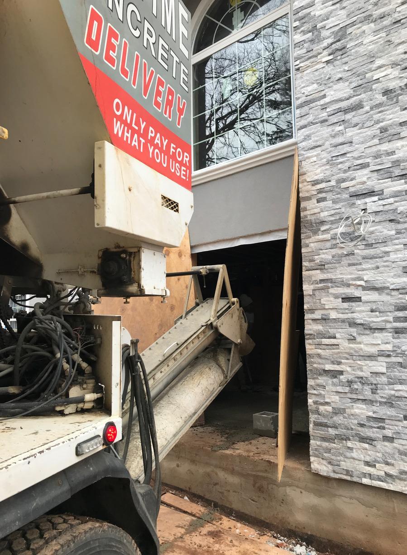 Garage Concrete Pour in Edison NJ - Before Photo