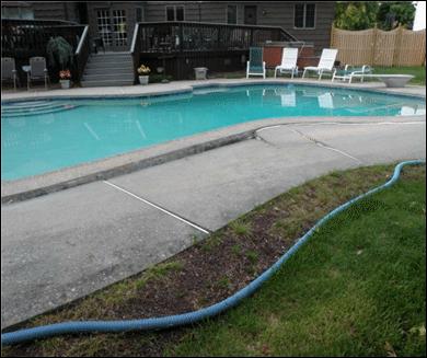 Lifting Sunken Concrete to Avoid Trip Hazard - Before Photo