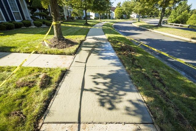 Concrete Delivery to Replace a Sidewalk in Monroe Township, NJ