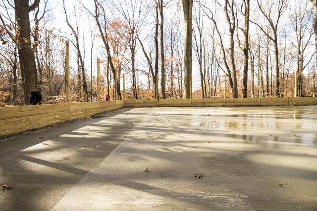 Delivering Concrete For a Tennis Court in Monmouth County, NJ - After Photo