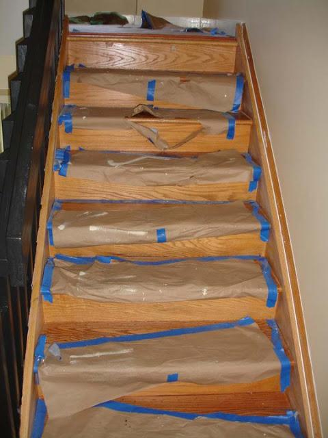 Painted Stairs in Stratford - Before Photo