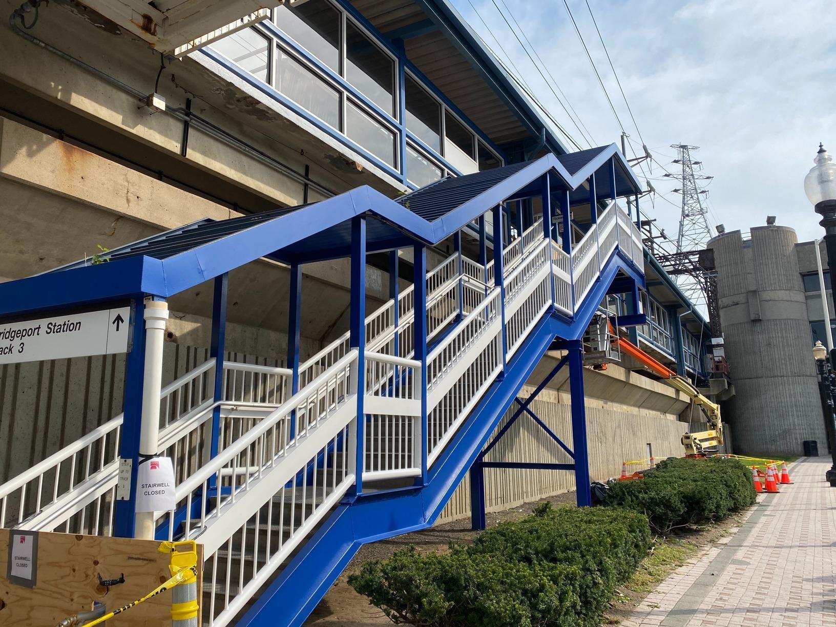 Bridgeport Train Station Stairwell - After Photo