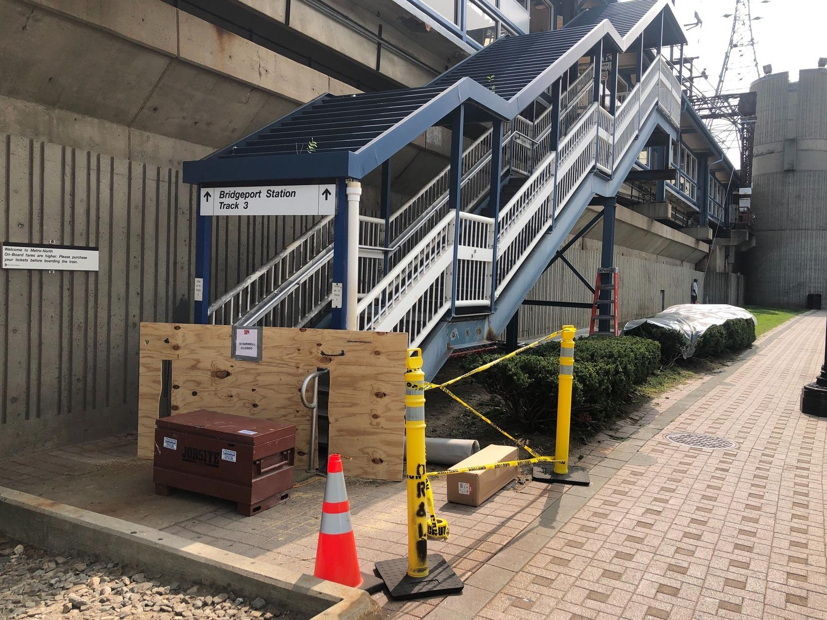 Bridgeport Train Station Stairwell - Before Photo