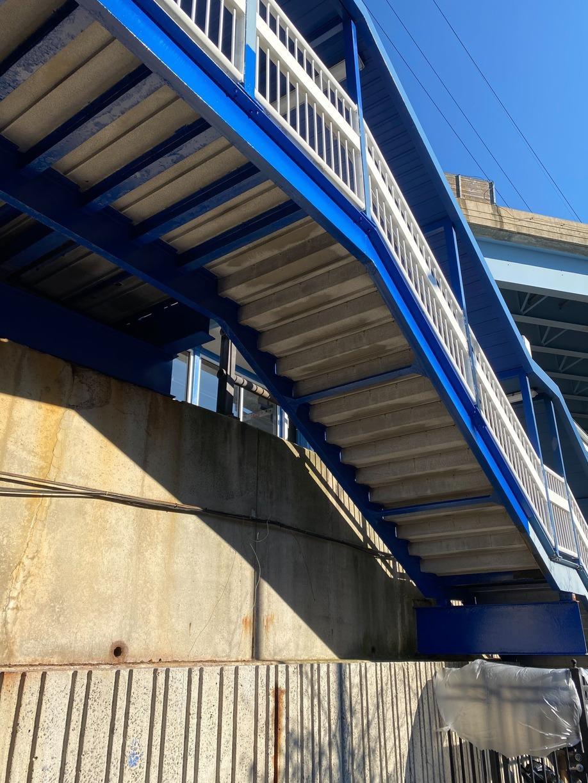 Bridgeport Train Station Underside - After Photo