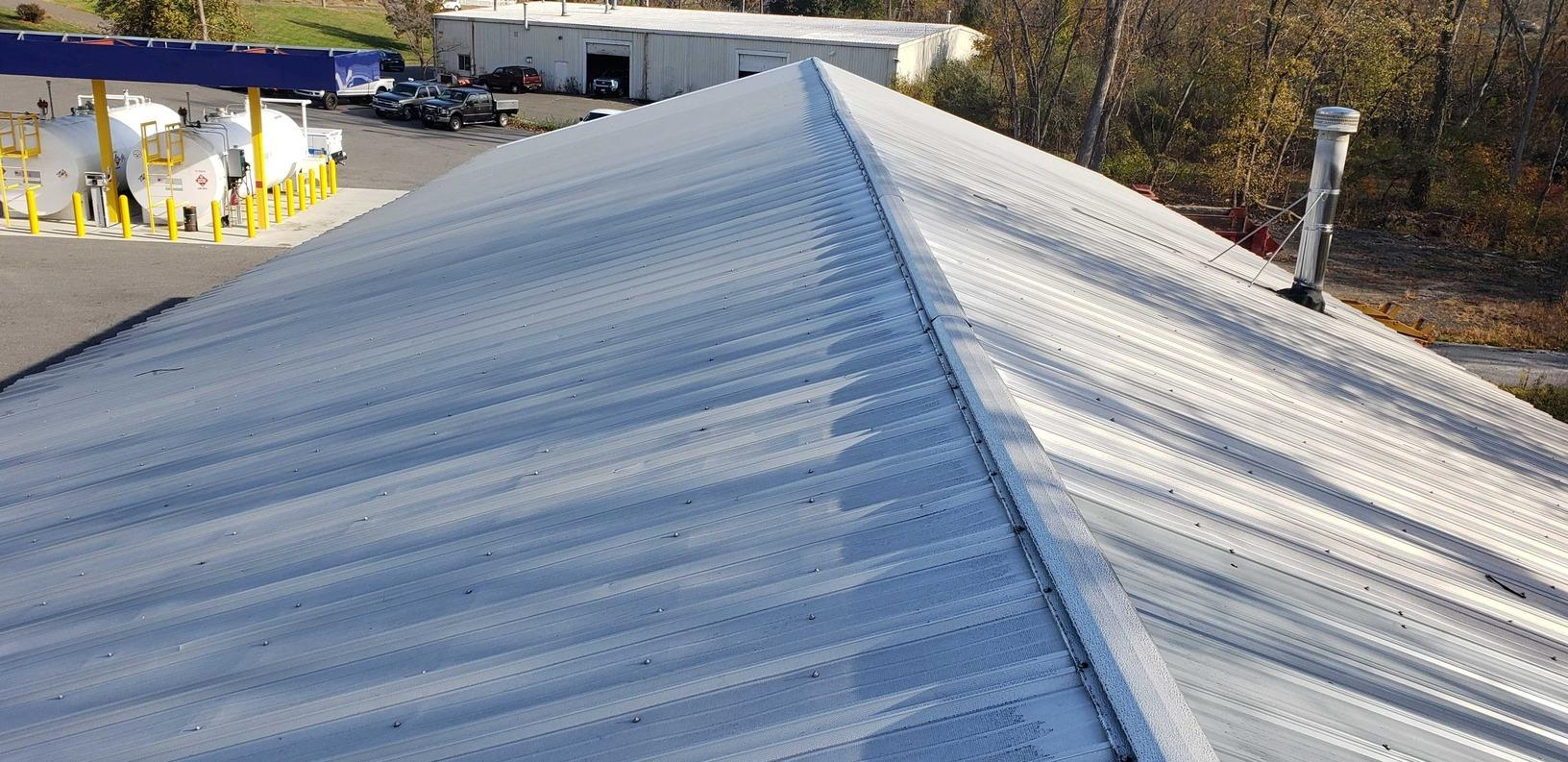Brookfield Public Works Garage Roofing Restoration - Before Photo