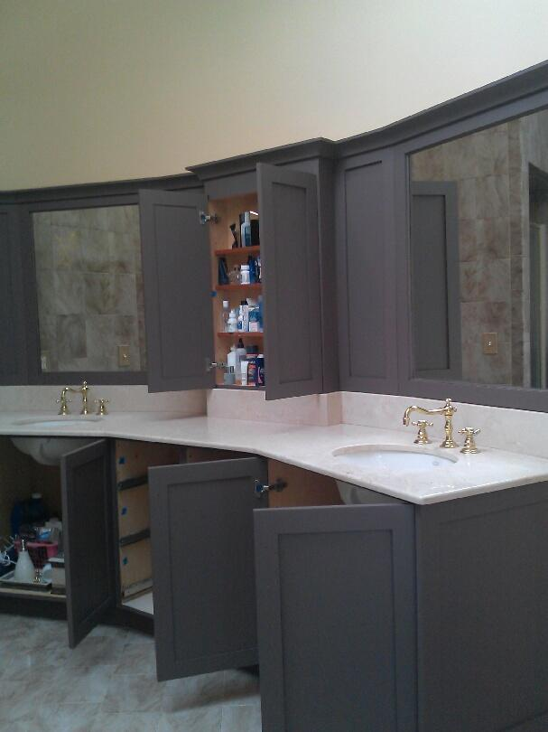 Vanity Bathroom Cabinet Painting South Salem NY - After Photo