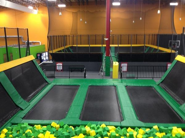 Rockin Jump Trampoline Park  Before & After in Trumbull, CT.