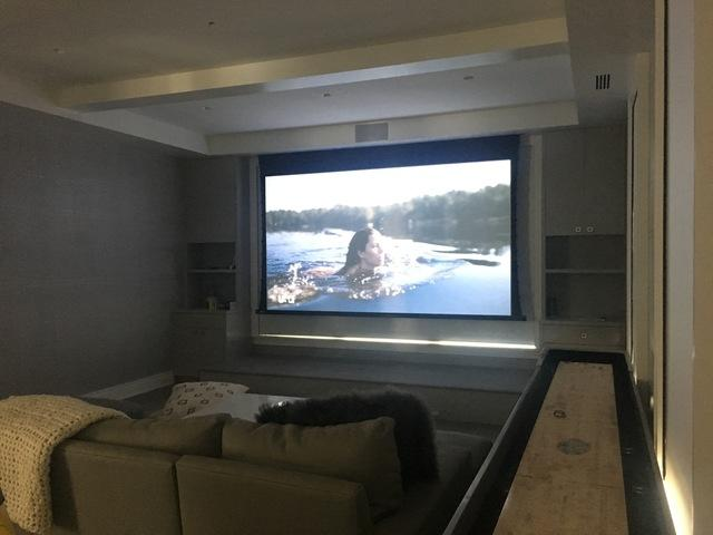 New Home Construction Theater Room - After Photo