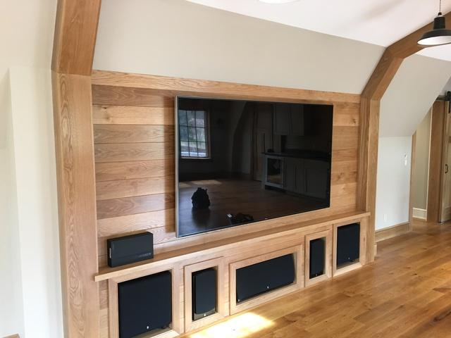 New Home Build Theater & Game Room in Essex, CT - After Photo