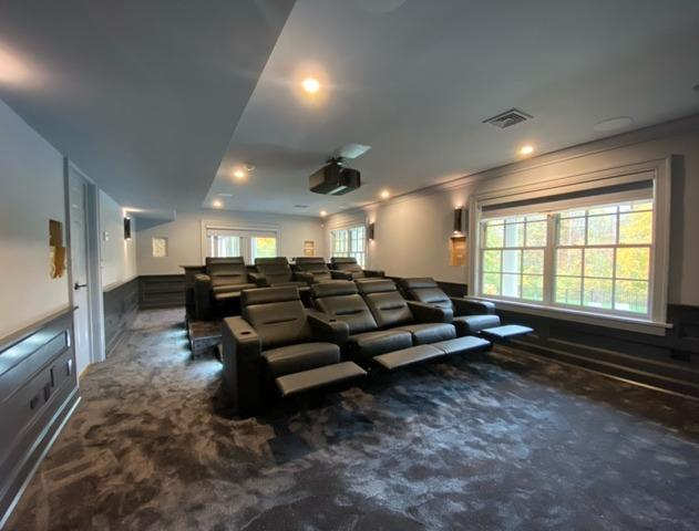 Custom Home Theater in Madison, CT.