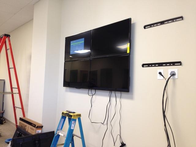 Tri-City HVAC 8 screen monitoring station in Milford, CT.  - Before Photo