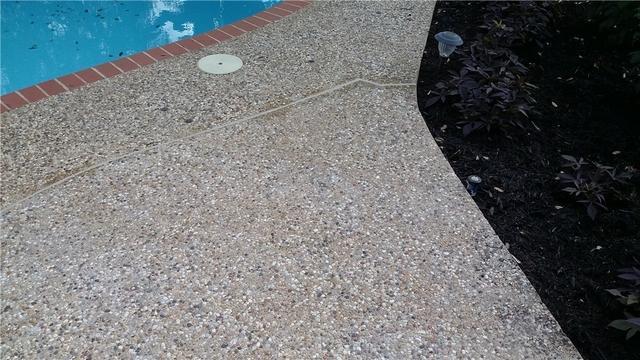 Sunken Pool Decking - After Photo