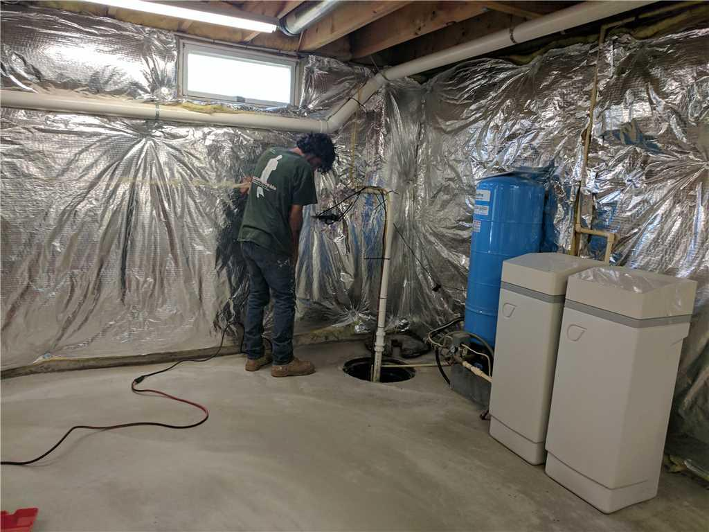 Radon Mitigation System installed in Rising Sun, Maryland - Before Photo