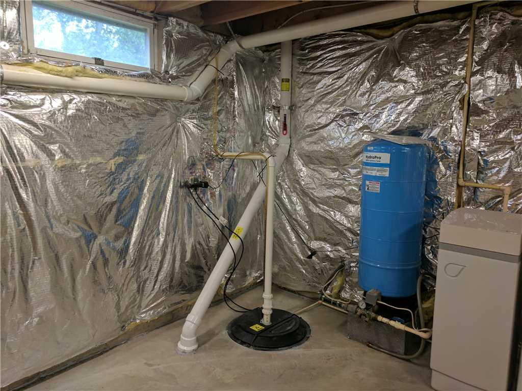 Radon Mitigation System installed in Rising Sun, Maryland - After Photo