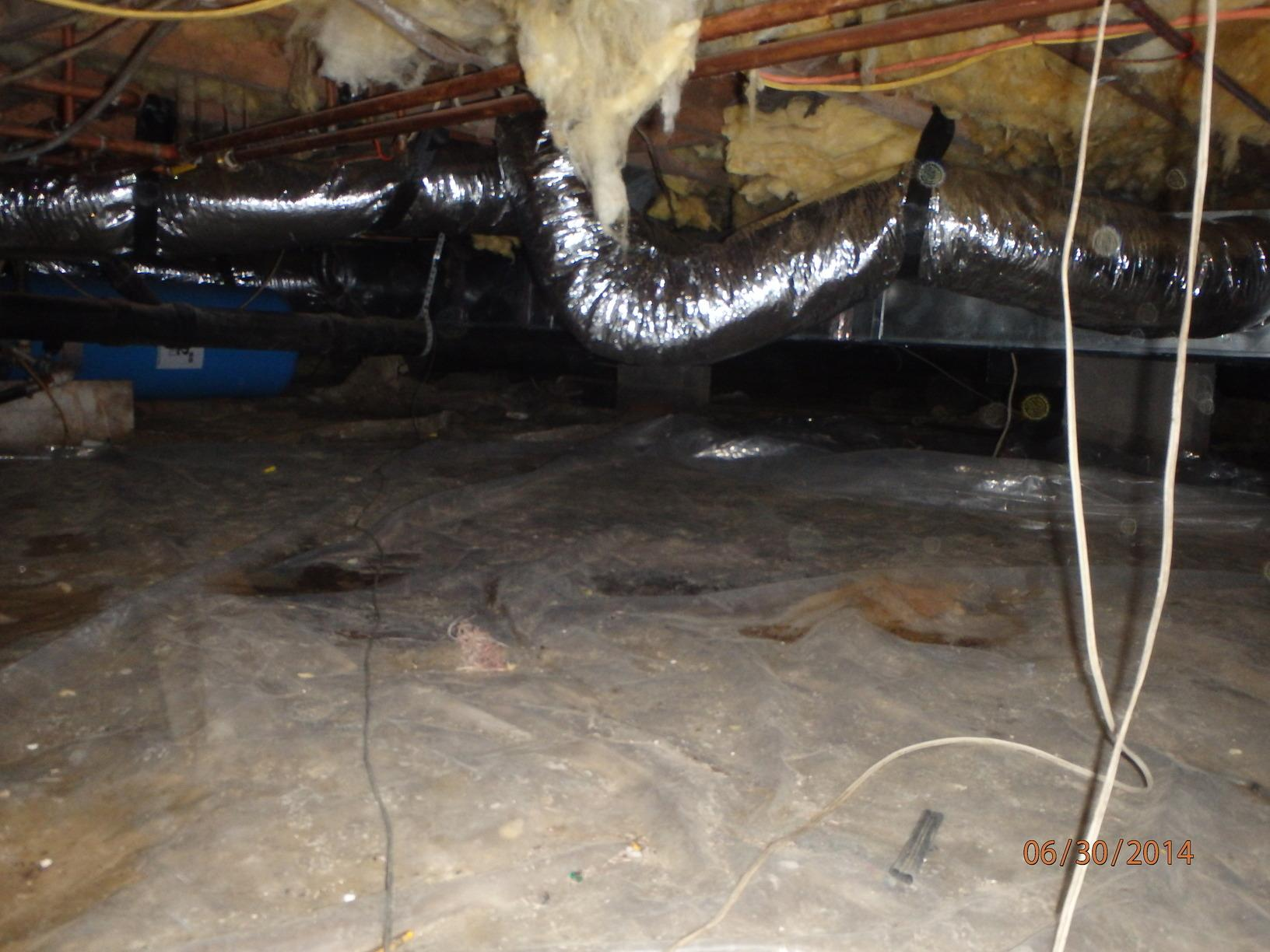 Improving Indoor Air Quality inside of a home in Oxford, Maryland - Before Photo
