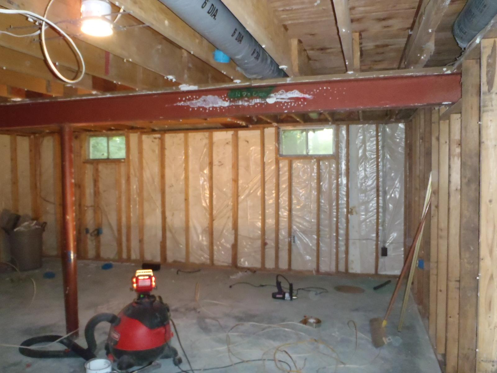 Spray Foam Insulation Installation in a Newark, DE Basement - Before Photo