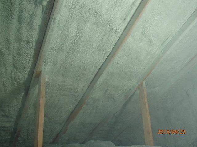 Spray Foam Insulation in Attic