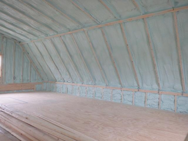 Spray Foam Insulation in Garage Loft in Milton, DE