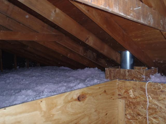 New Castle Delaware Attic Air Sealing and Insulation Around Exhaust Pipe
