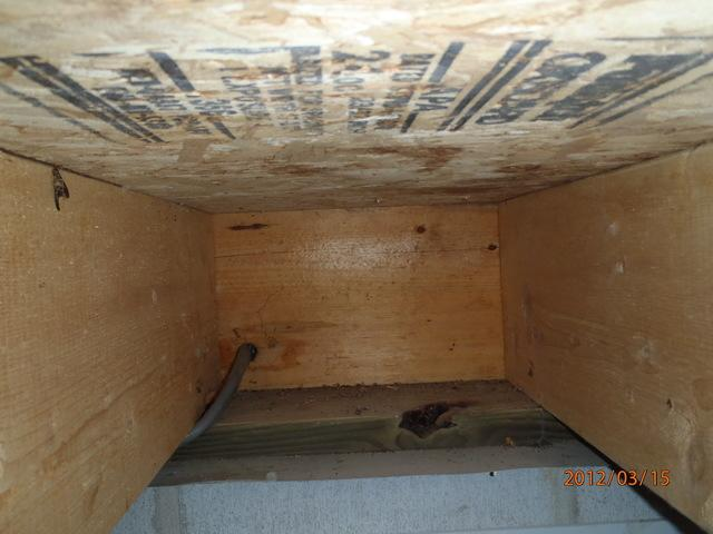 Rim Joist Air Sealing in Delaware - Before Photo