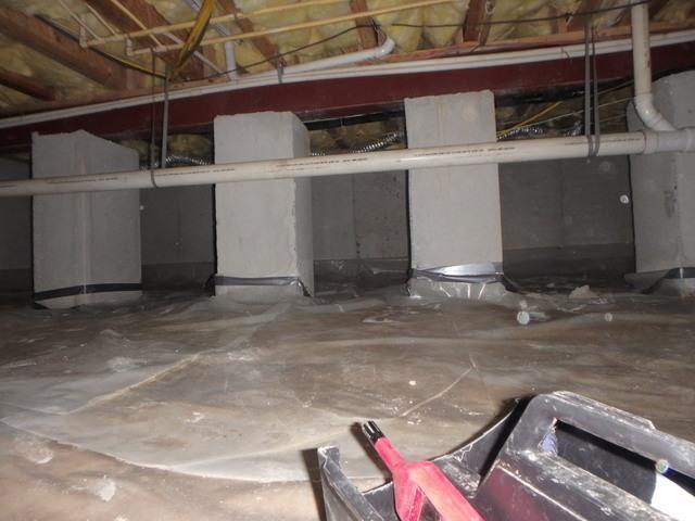 Updating a Crawl Space in Millsboro, DE.