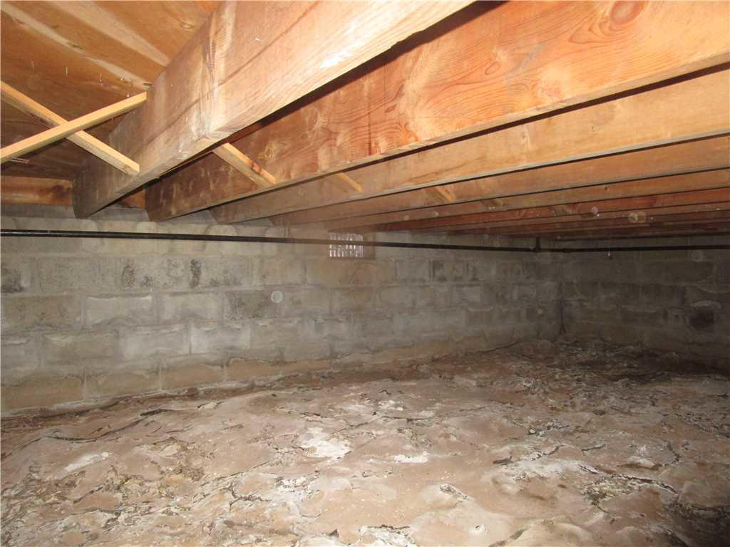 Vented Crawl Space Insulated in Beaver Bay, Minnesota - Before Photo