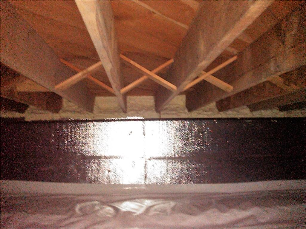 Vented Crawl Space Insulated in Beaver Bay, Minnesota - After Photo