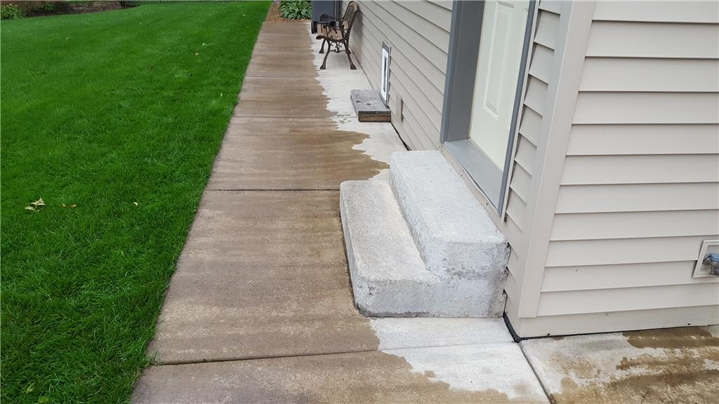 Lift & Level Uneven Exterior Concrete in Chippewa, WI - Before Photo