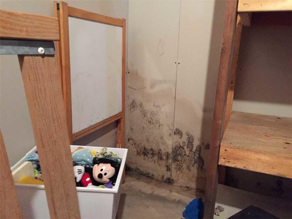Water damaged basement fixed in Eau Claire, WI - Before Photo