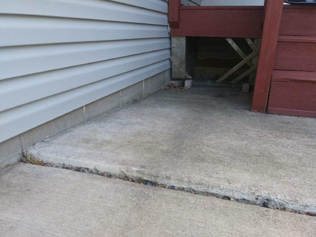 Concrete Lifting and Leveling in Isanti, MN - Before Photo