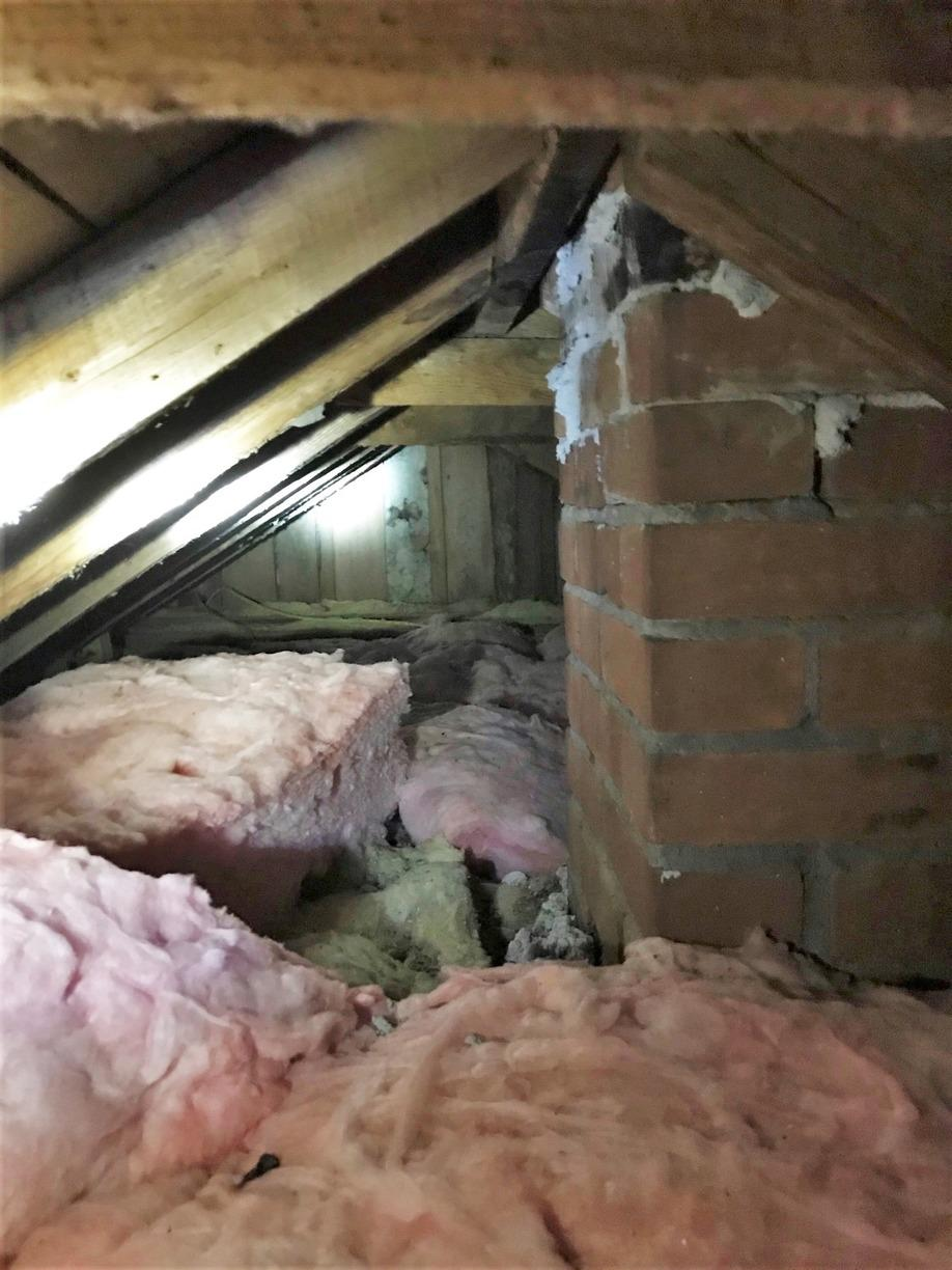 Spray Foam Insulation for Trego, WI Attic - Before Photo