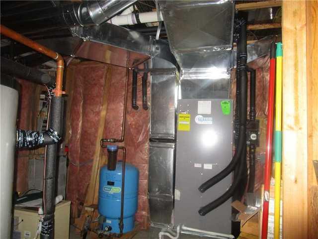 Spray Foam Insulation Around Basement Utilities