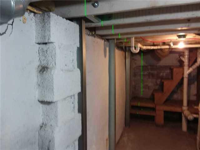 Duluth, MN basement walls stabilized with PowerBraces