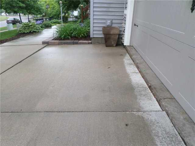 Altoonna, WI driveway lifted and leveled - Before Photo