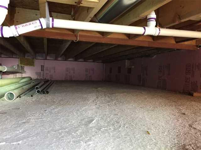 Crawl Space Insulation in Holyoke, MN. - Before Photo