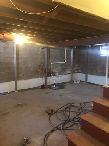 Duluth, MN Basement Receives Wall Support and Waterproofing