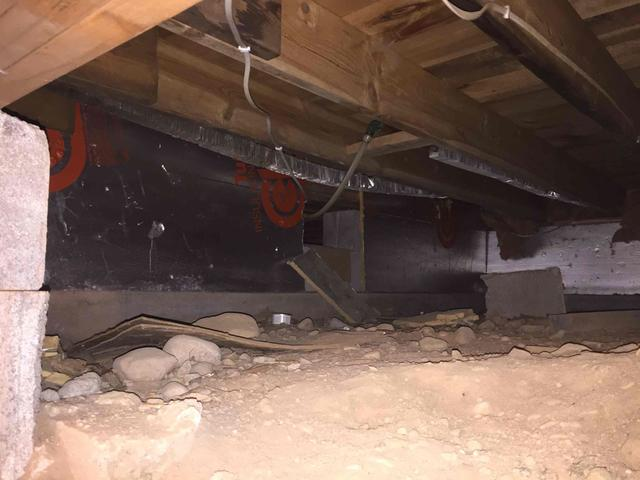 Crawl Space Encapsulation and SmartJack® in Cable, WI - Before Photo