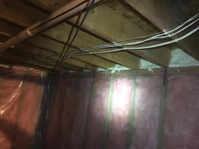 Rim Joist Spray Foam in Bayfield, WI - After Photo