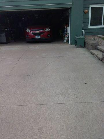 Badly Cracked Concrete Driveway Repair in Duluth, MN