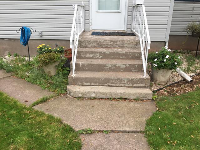Hazardous Sidewalk Repaired in Danbury, WI
