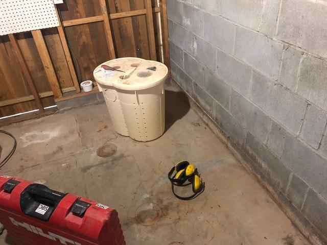 Basement Waterproofing Project in Mountain Iron, MN